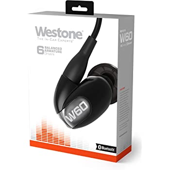 Westone W60 with Bluetooth Cable Six-Driver True-Fit Earphones with High Definition Silver MMCX Cable