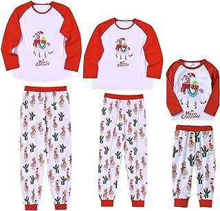 puseky - Conjunto de Pijamas para Padres e Hijos, diseño navideño