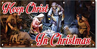Best keep christ in christmas banner Reviews