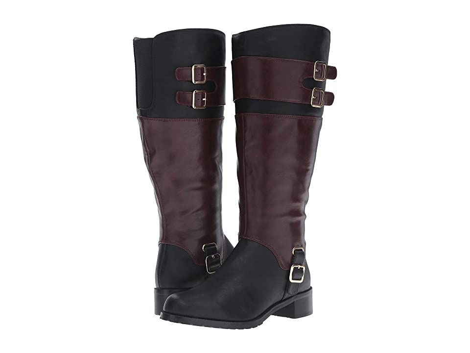 Bella-Vita Adriann II Plus (Black/Burgundy) Women