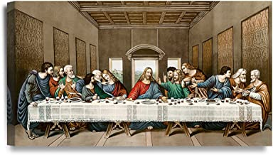 DECORARTS -The Last Supper, Leonardo da Vinci Classic Art Reproductions. Giclee Canvas Prints Wall Art for Home Decor 32x1...