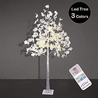 LIGHTSHARE 6 ft. Maple Tree - 120 LED Lights, Warm White, Cold White Lights and Mixed Lights Color, White Finish