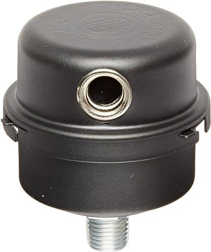 """Solberg FS-04-025 Inlet Compressor Air Filter Silencer, 1/4"""" MPT Outlet, 2-3/4"""" Height, 2-1/2"""" Diameter, 4 SCFM, Made..."""