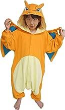 SAZAC Kigurumi - Pokemon - Charizard - Onesie Jumpsuit Halloween Costume - Kids Size (5-9 Year Old) Orange