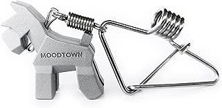 MOODTOWN Handcrafted Stainless Steel Key Chain Schnauzer Gunmetal