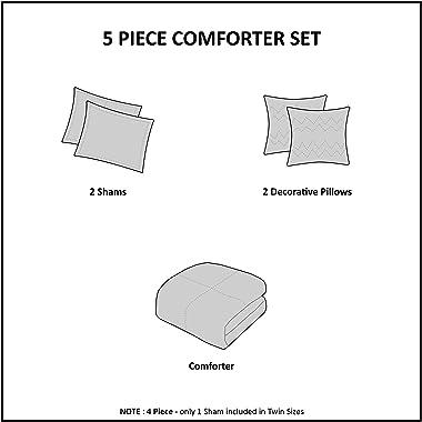 Intelligent Design Cozy Comforter Casual Cabin Lodge Plaid Design, Full/Queen, Black