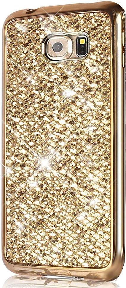 Kompatibel Mit Galaxy S7 Hülle Glänzend Glitzer Strass Diamanten Handyhülle Tpu Silikon Hülle Case Tasche Weiche Silikon Rückseite Glitzer Schutzhülle Für Galaxy S7 Rose Gold Baumarkt