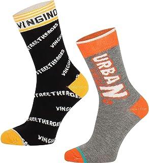 Vingino, Viza - Juego de 2 pares de calcetines, multicolor y amarillo