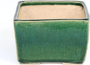 清香園オリジナル 彩花鉢 長方鉢 緑