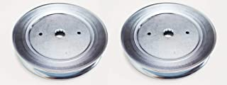 Craftsman Set of 2 Pulleys, Replaces Spindle Pulley Part Numbers: 129861, 153535, 173436, 177865 Poulan Husqvarna