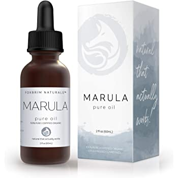 Organic Marula Oil - 100% Pure - 2 OZ Bottle - USDA Certified - Cold Pressed - For Skin, Hair & Nails - Anti Aging, Moisturizing & Healing - by Foxbrim Naturals