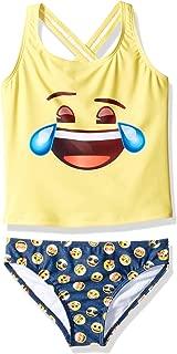 Big Girls' Emoji Print Tankini 2pc Swim Suit