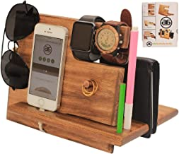 abhandicrafts Deal of The Day - Universal Wooden Docking Station, Smartphones Docking Station for Men, Women, Dad, Wife, Husband, Anniversary Presents for Him/Her