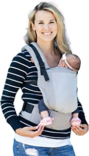 Baby Tula Free-to-Grow Coast Mesh Baby Carrier 7-45 lb, Adjustable Newborn to Toddler Carrier, Ergonomic Inward Front and Back Carry, Lightweight - Coast Overcast, Light Gray with Light Gray Mesh