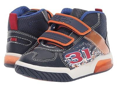 Geox Kids Jr Inek 4 (Toddler) (Navy/Orange) Boys Shoes