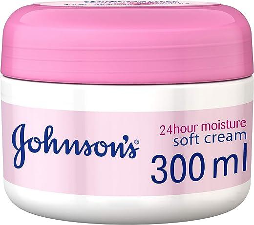 جونسون،كريم للجسم، ترطيب 24 ساعة، ناعم، عبوة 300 مل