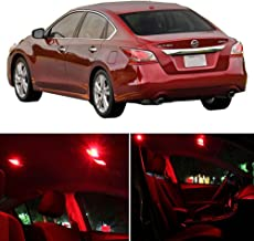 SCITOO Fits For Nissan Altima 2015-2017 Interior LED Light 11 Pcs Red Package Kit Replacement Bulbs