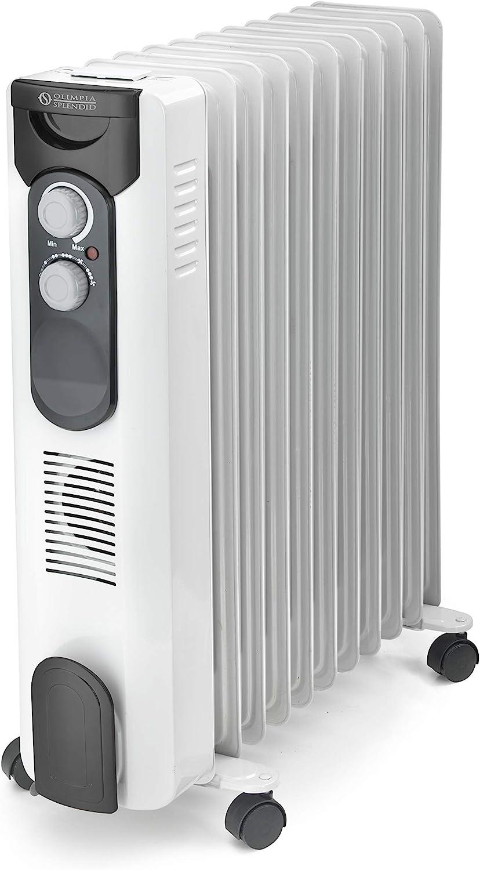 2500 W 11 fin d/'olio riscaldatore radiatore tempo 24 H con Ventola Calore Turbo