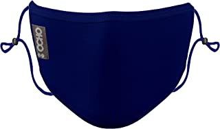 OCHO - MASCARILLA Higiénica Reutilizable Azul Marino - Pack de 1 mascarilla AJUSTABLE y CERTIFICADA para 25 lavados con 10...