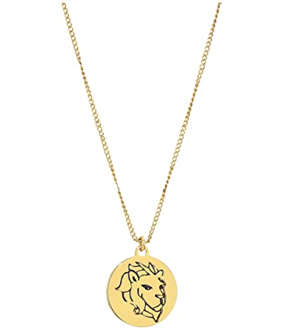 Kate Spade New York In the Stars Leo Pendant Necklace (Gold) Necklace