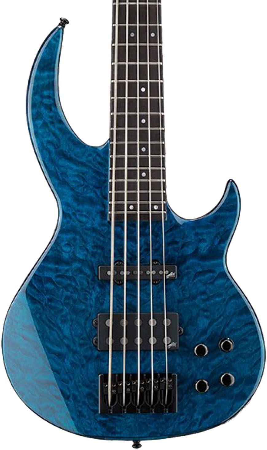 In stock ESP LBB1005QMBLKAQ shop 5-String Bass Aqua Black Guitar