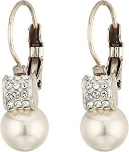 Meridian Petite Pearl Leverback Earrings