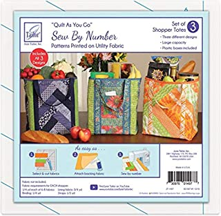 June Tailor Inc Quilt As You Go Shoppers Totes-3pk QAYG Sew/Nbr Utility Shop Tote