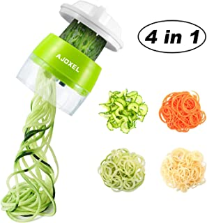 AJOXEL Cortador de Verduras Espiral, 4 IN 1 Espaguetis