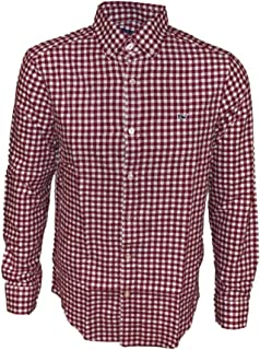 Men's Long Sleeve Button Down Whale Shirt Oxford