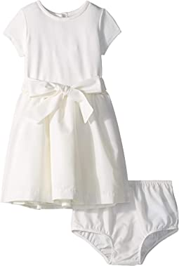 Knit-Woven Fit & Flare Dress (Infant)