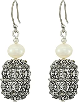 Lucky Brand - Pave and Pearl Tassel Earrings
