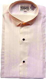 Broadway Tuxmakers Boy's Wing Tip Pink Tuxedo Shirt with Studs by