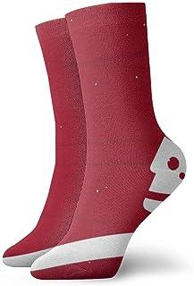 Kevin-Shop, Calcetines de compresión Rojos Blancos del árbol de Navidad Calcetines Casuales Divertidos, Calcetines Finos Tobillo Corto para Exteriores, absorción de Humedad atlética