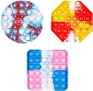 Sponsored Ad - Hamdril 3 PCS Push Pop Bubble Sensory Fidget Toys for Kids and Adults, Bubble Popper Silicone Stress Reliev...