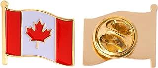 Canada Canadian Country Flag Lapel Pin Enamel Made of Metal Souvenir Hat Men Women Patriotic (Waving Flag Lapel Pin)