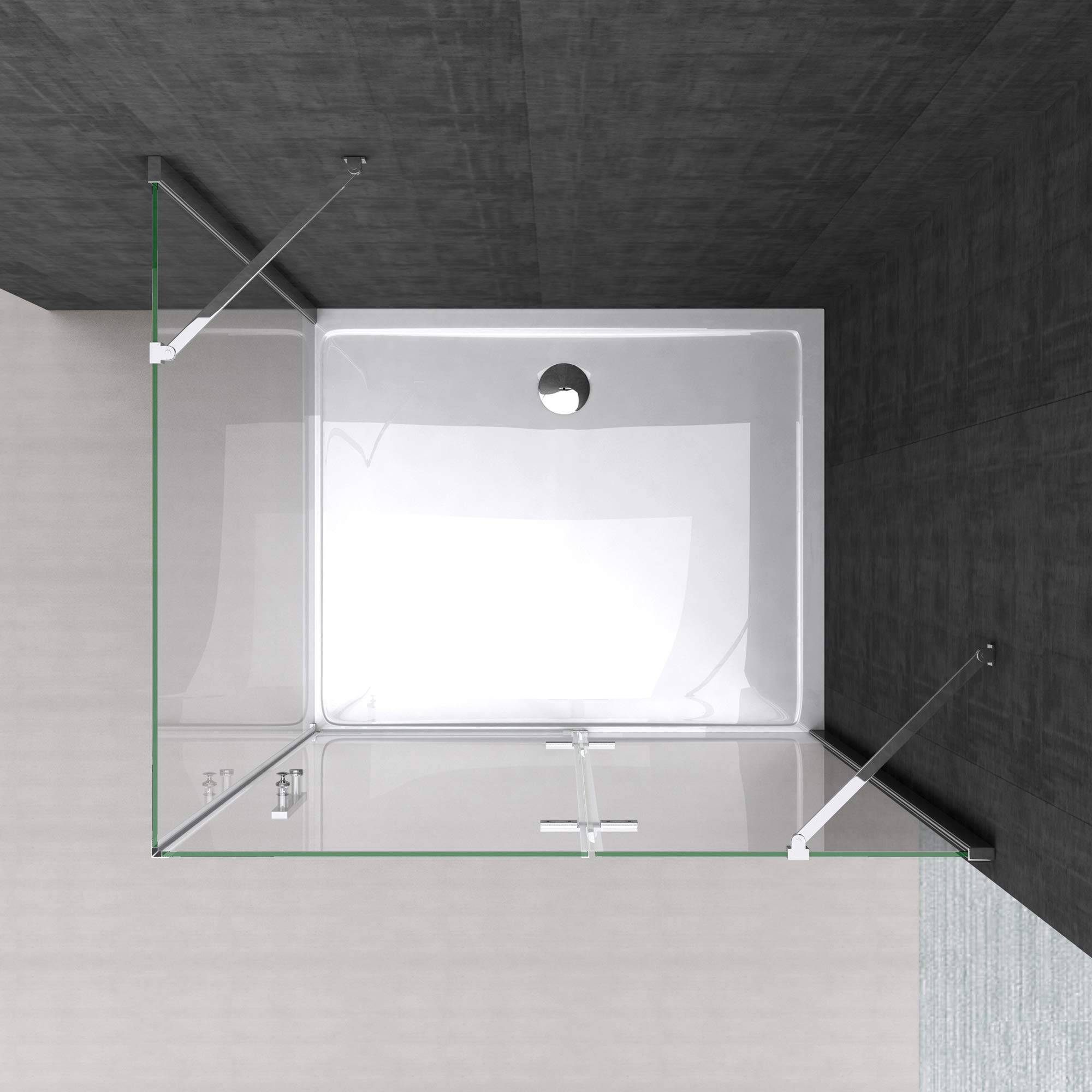 Sogood: Cabina de ducha de esquina Rav28K 70x120x195cm mampara de ...
