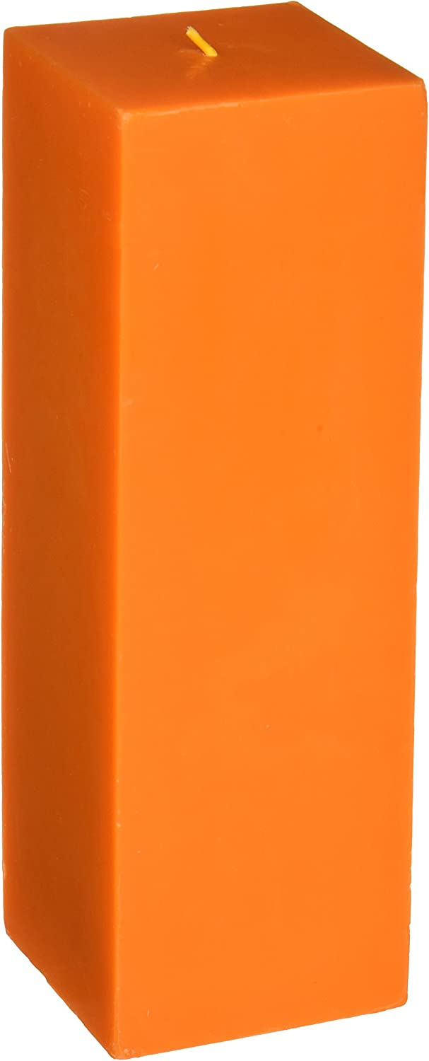 Zest Candle Pillar Cheap Max 80% OFF bargain 3 9-Inch by Square Orange