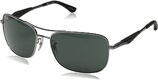 Men's RB3515 Square Metal Sunglasses