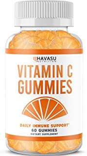 Havasu Nutrition Vitamin C Immune Support Gummies Designed for Defense, Non-GMO, Natural & Pectin-Based; 60 Gummies