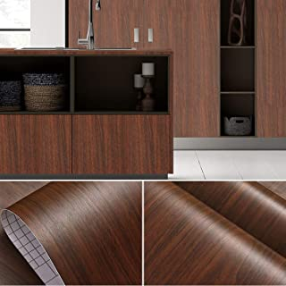 Wolpin Wall Stickers Furniture Wallpaper Wood (45 x 600 cm) Door, DIY Vinyl, Almirah, Shelf Liner, Table Top, Wardrobe, Ki...
