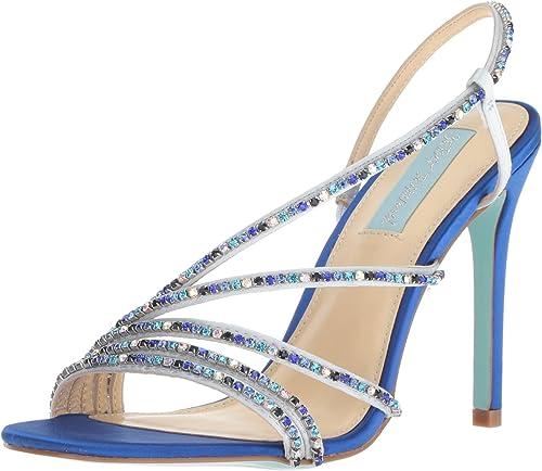 Betsey Johnson Femmes Sandales à Talon Couleur Couleur Bleu bleu Satin Taille 39 EU   8  magasin vente sortie