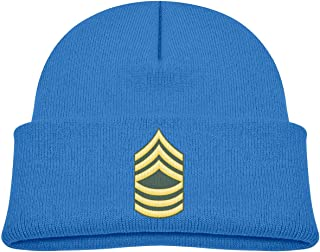 ADGoods Kids Children US Army E-8 Master Sergeant Beanie Hat Knitted Beanie Knit Beanie For Boys Girls Gorra de béisbol pa...