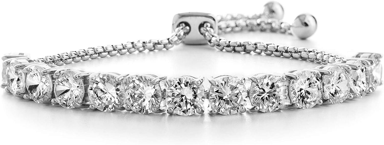 Devin Rose Cubic Zirconia Adjustable Bolo Bracelet for Women