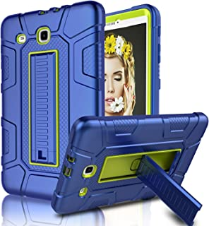 Galaxy Tab E 9.6 Case, SM-T560 / T561 / T567 Case, Elegant Choise Case with Kickstand Three Layer Heavy Duty Shockproof Defender Rugged Protective Case for Samsung Galaxy Tab E 9.6 inch (Yellow/Blue)