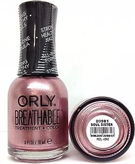 Orly Breathable Treatment & Nail Polish, Nudes Soul Sister, 0.6 Fluid Ounce