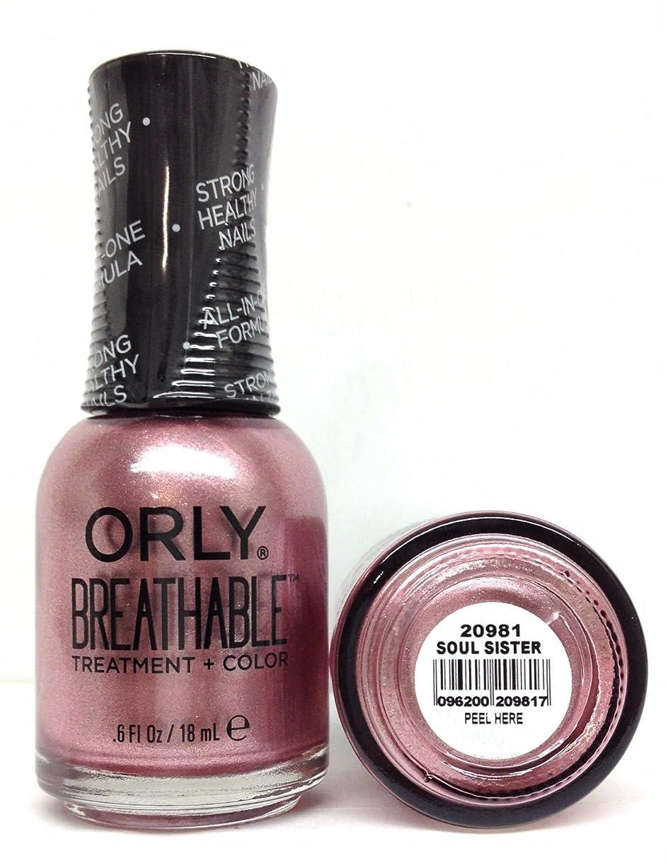 継承ジュース追加Orly Breathable Nail Lacquer - Treatment + Color - Soul Sister - 0.6 oz / 18 mL