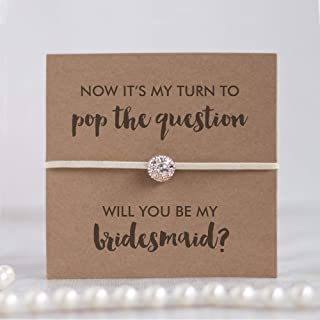 Will you be my bridesmaid proposal gifts, asking bridemaid gifts, bridesmaid proposal jewelry ivory friendship bracelets