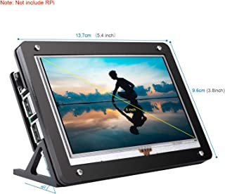 kuman 5 Inch Resistive Pantalla táctil con la Caja Protectora 800x480 HDMI TFT Touch Screen LCD Display with Protective Case for Raspberry Pi 4B 3B+/3B 2 Model B RPi 1 B B+ A A+ SC5AC