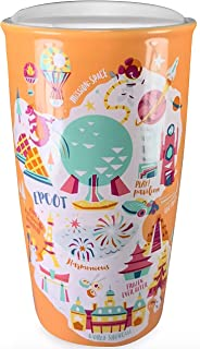Disney Parks Exclusive - Ceramic Travel Tumbler Mug with Lid - Been There Series - Epcot