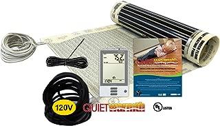 QuietWarmth Electric Floor Heating Starter Kit for SubFloors & Existing Floors - 13.3 Sqft - 120V